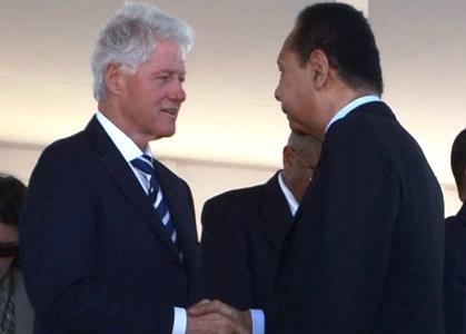 Francois Duvalier et Bill Clinton