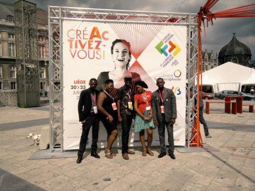 La délégation haïtienne au Forum Mondial de la Francophonie. Photo : Didier Diempi Gabiam